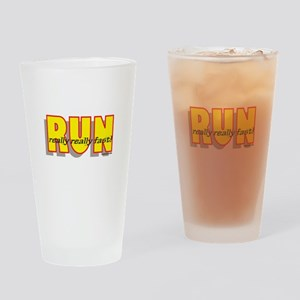 RUN Really Fast Drinking Glass
