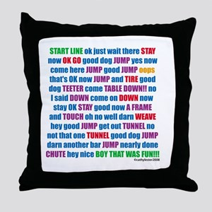 An Agility Run Throw Pillow