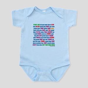 An Agility Run Infant Bodysuit