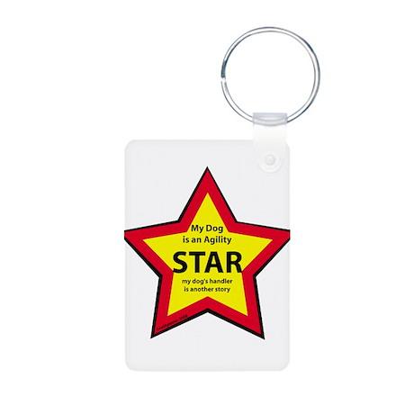 Agility Star Aluminum Photo Keychain