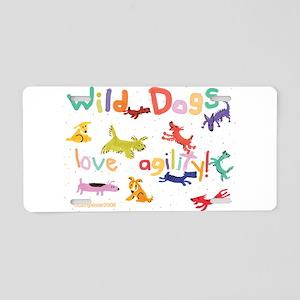 Wild Dogs Aluminum License Plate
