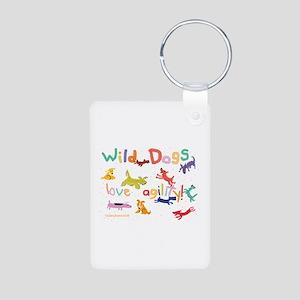 Wild Dogs Aluminum Photo Keychain