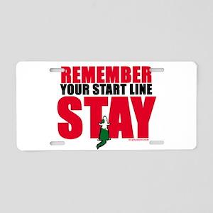 Start Line Stay Aluminum License Plate