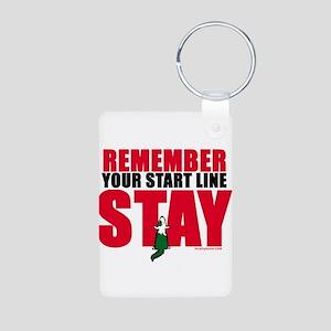 Start Line Stay Aluminum Photo Keychain