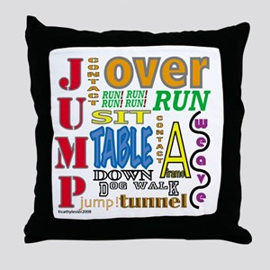 Agility Commands Throw Pillow