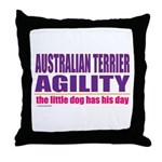 Australian Terrier Agility Throw Pillow