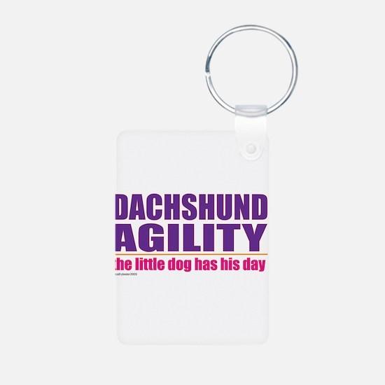 Dachshund Agility Keychains