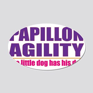 Papillon Agility 22x14 Oval Wall Peel