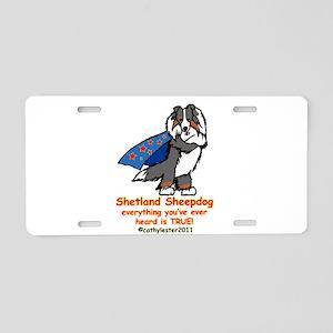 Tri Super Sheltie Aluminum License Plate