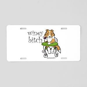 Winey Bitch Sheltie Aluminum License Plate