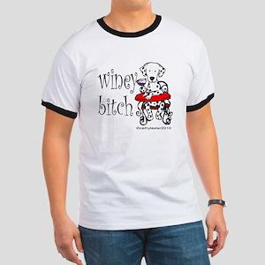 Winey Dalmatian Ringer T