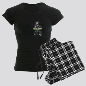 Winey Bitch Curly Women's Dark Pajamas