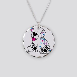 Love a Puppy Necklace Circle Charm