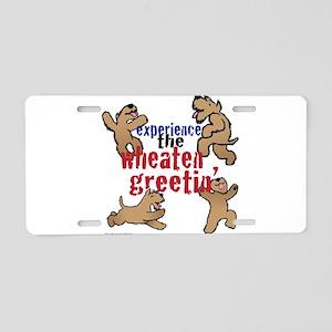 Wheaten Greetin' Aluminum License Plate