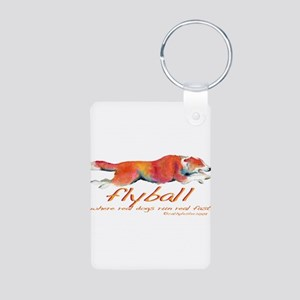 Real dogs Real fast Aluminum Photo Keychain