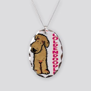 I'm a Goldendoodle Necklace Oval Charm