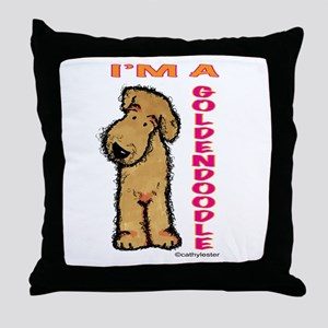 I'm a Goldendoodle Throw Pillow