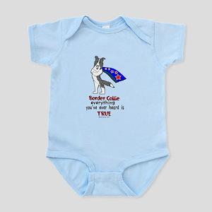 Blue Merle Super Border Colli Infant Bodysuit