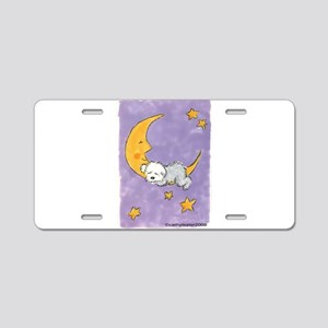 Baby puppy naps Aluminum License Plate
