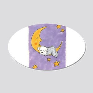 Baby puppy naps 22x14 Oval Wall Peel