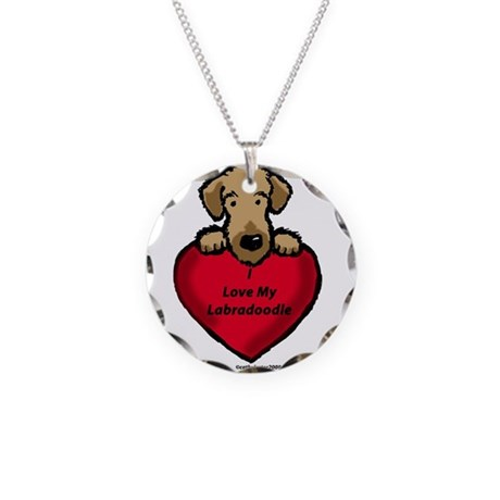 Labradoodle Love!! Necklace Circle Charm