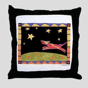 Star Dog Throw Pillow