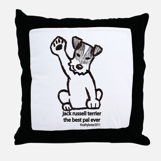 Jack Russell Greeting Throw Pillow