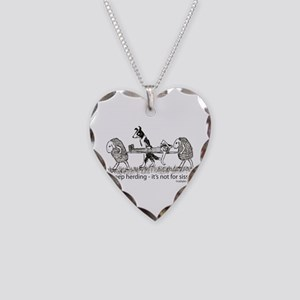 Sheep Herding Sissies Necklace Heart Charm