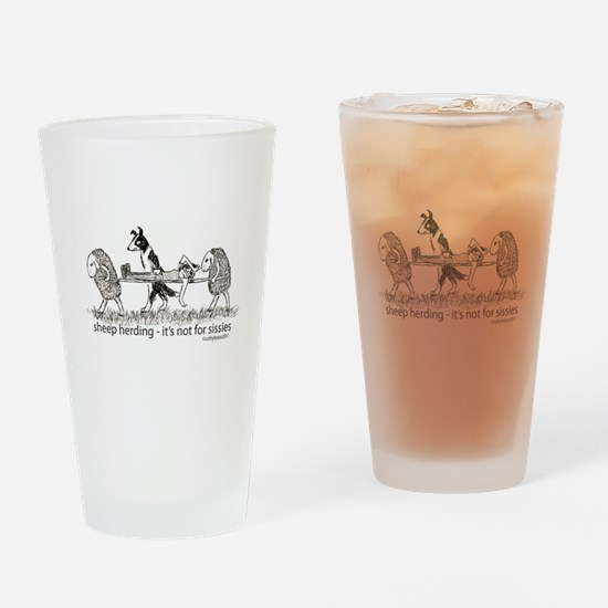 Sheep Herding Sissies Drinking Glass