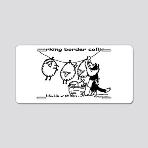 Working Border Collie Aluminum License Plate