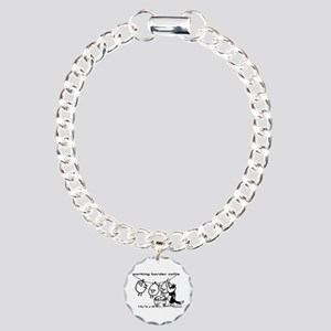 Working Border Collie Charm Bracelet, One Charm