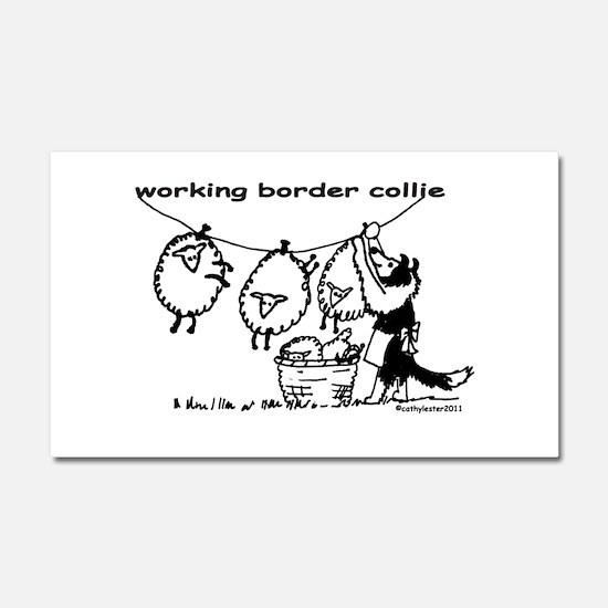 Working Border Collie Car Magnet 20 x 12