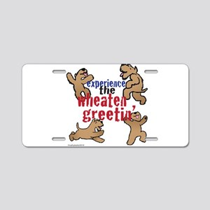 Wheaten Greetin' Aluminum License Plate