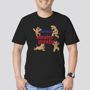 Wheaten Greetin' Men's Fitted T-Shirt (dark)