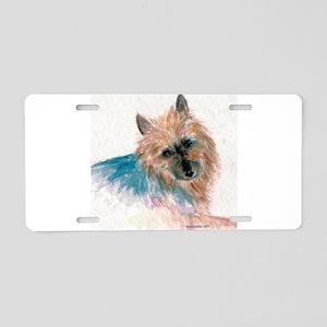 Australian Terrier face Aluminum License Plate