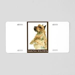 Red Australian Terrier Beg Aluminum License Plate