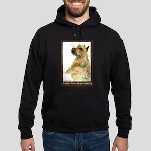 Red Australian Terrier Beg Hoodie (dark)