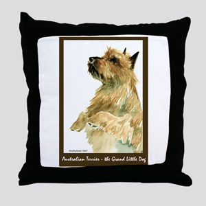 Red Australian Terrier Beg Throw Pillow