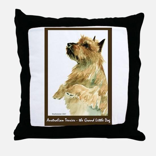Red Australian Terrier Beg Throw Pillow