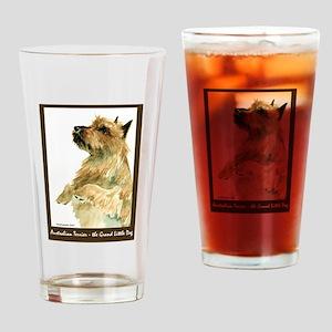 Red Australian Terrier Beg Drinking Glass