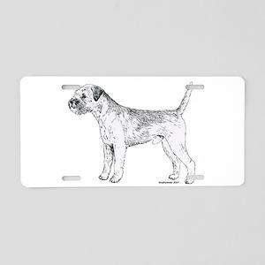 Border Terrier Aluminum License Plate
