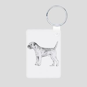 Border Terrier Aluminum Photo Keychain
