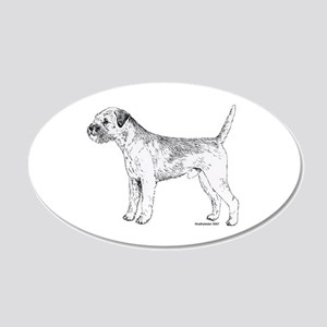 Border Terrier 20x12 Oval Wall Decal