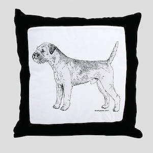 Border Terrier Throw Pillow
