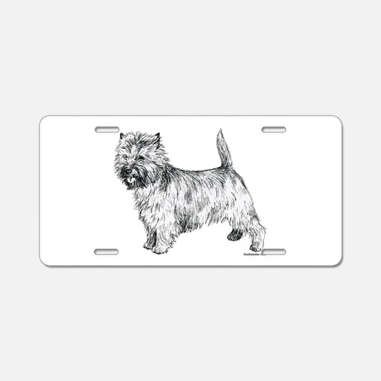 Cairn Terrier pen & ink Aluminum License Plate