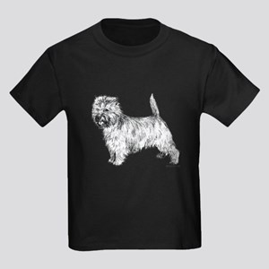 Cairn Terrier pen & ink Kids Dark T-Shirt