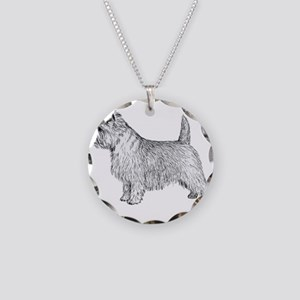 Cairn Terrier side Necklace Circle Charm