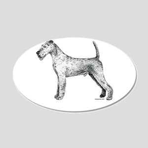 Irish Terrier 22x14 Oval Wall Peel