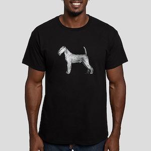 Irish Terrier Men's Fitted T-Shirt (dark)