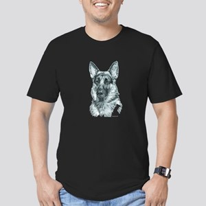 German Shepherd Men's Fitted T-Shirt (dark)